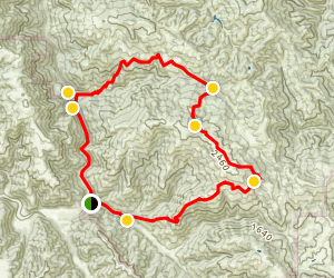 Willson Ranch, Wilson Peak, and Grizzly Gulch Loop Map
