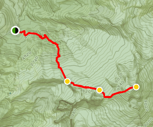 Mount Baker Standard Summit Route Map