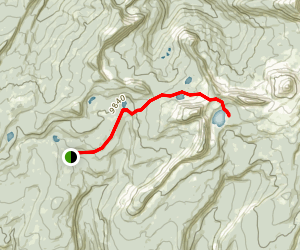 Upper Setting Trail to East Shingle Creek Lake, South Erickson Lake, and Big Elk Lake Map