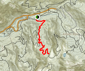 Germania Pass via Collins Gulch Map