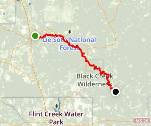 Black Creek Canoe Trail: Brooklyn to Fairley Bridge Road Map