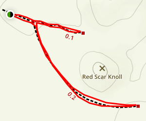Red Star Knoll Trail Map