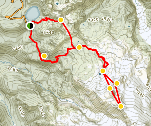 Flett Glacier Summer Ski Tour Map
