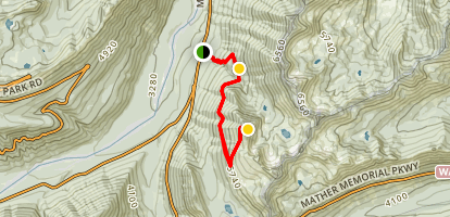 Crystal Peak Trail Map