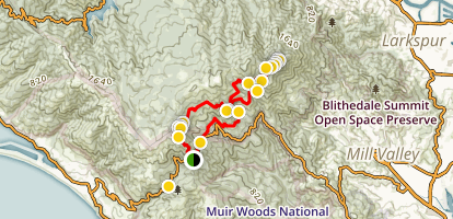 Mountain Theater, West Point Inn, and Mount Tamalpais Loop Map
