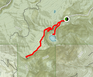 Blue Lake and Dock Butte Trail Map