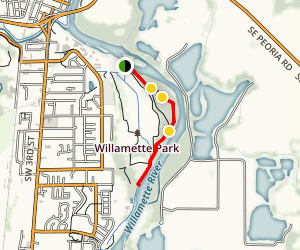 Willamette River Path Map