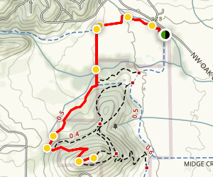 Bald Hill West Trail Map