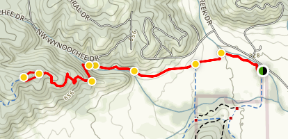Mulkey Creek Trail Map