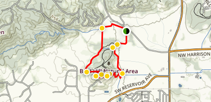 Bald Hill Natural Area Loop Map