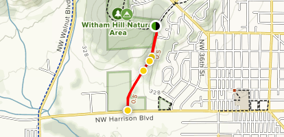 Midge Kramer Path (Witham Oaks Section) Map