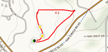 Woodland Meadow Park Loop Map