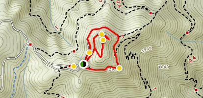 Verna Dunshee Trail and Plank Trail at Mount Tam East Peak Map