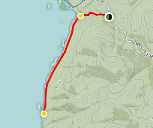 Lake George Trail to Calve's Pen Map