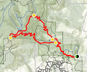 Dimple Hill Trail to Horse Trail Loop Hike Map