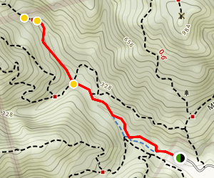 High Water Trail to Cascade Falls Map