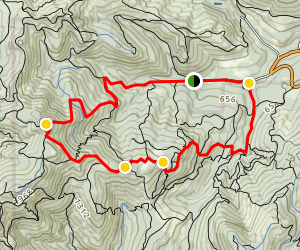 Sulphur Springs and Soap Creek Area - North MacDunn Forrest Loop Map