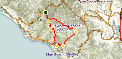 Coastal Trail to Redwood Creek Trail Loop Map