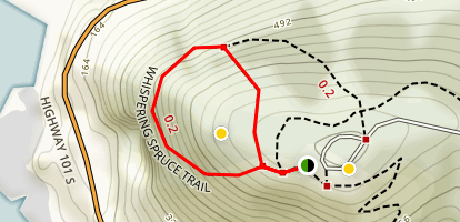 Whispering Spruce Trail Map