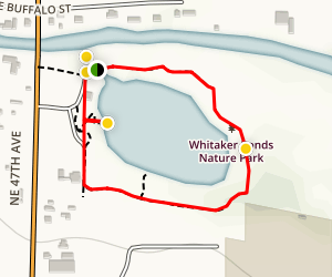 Whitaker Ponds Nature Park Map