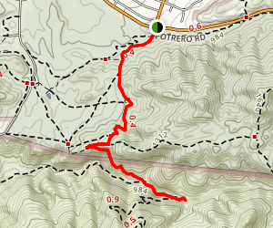 Wendy Trail to Waterfalls Map
