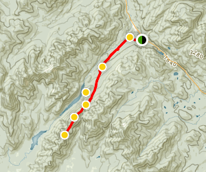 Blake Peak and Mount Colvin Trail Map