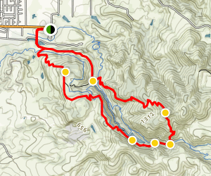 Lake Marie and Sugarloaf Peak Loop Map