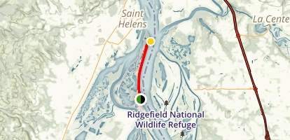 Sauvie Island: Warrior Rock Lighthouse Trail Map