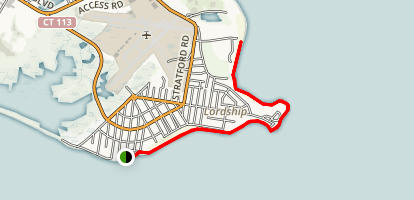 Stratford Seawall Overlook - Short Beach Peak Map