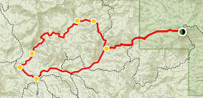 Woodpecker and Ajax Mines 4x4 Loop Trail Map