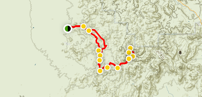 Martinez Canyon 4x4 Trail Map