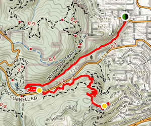 Lower Macleay Park to Pittock Mansion Map