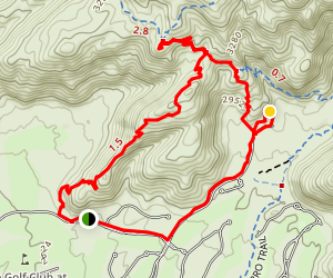 Upper Javelina Trail Loop Map
