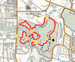 Tualatin Hills Nature Park Loop Trail Map