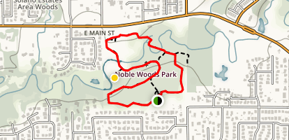 Noble Woods Trail Map