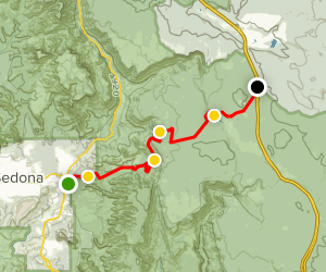 Schnebly Hill Road 4x4 Trail Map