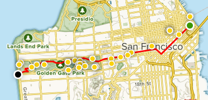 Bay to Breakers Course Route Map