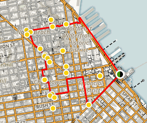 Loop of Downtown San Francisco, North Beach, and Chinatown Map