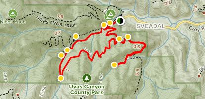 Uvas Canyon Waterfalls Map