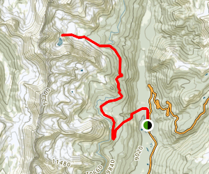 Lake of the Clouds via Grand Ditch Trail Map
