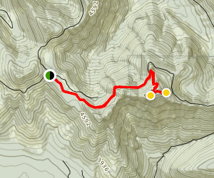 Triangulation Peak and Boca Cave Trail [CLOSED] Map