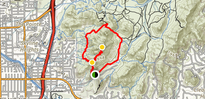 Piestewa (Squaw) Peak and Freedom Loop Trail Map