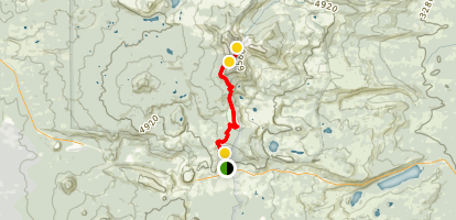 Three Fingered Jack via Pacific Crest Trail Map