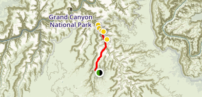 Havasu Falls and Mooney Falls Trail Map
