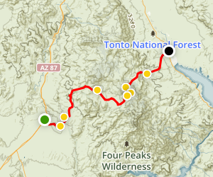 Four Peaks 4X4 Road Map