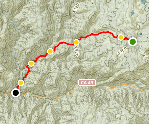 Downieville Downhill Map