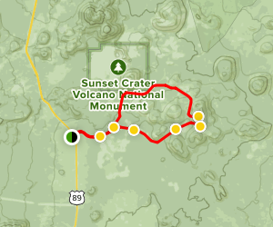 Cinder Hills Loop Trail Map