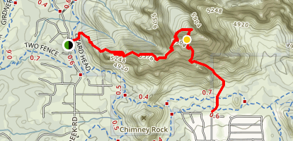 Capital Butte - Up and Over Map
