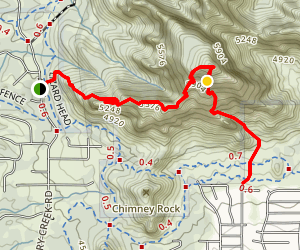 Capitol Butte: Dry Creek Road to Sunshine Lane Map