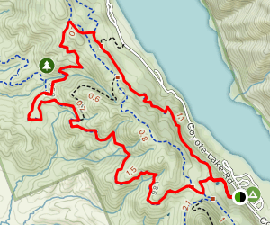 Valley Oak Trail at Coyote Lake Map